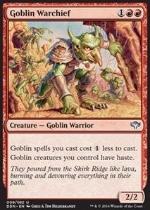 Scourge    MTG Magic Francais Goblin Warchief Chef de guerre gobelin